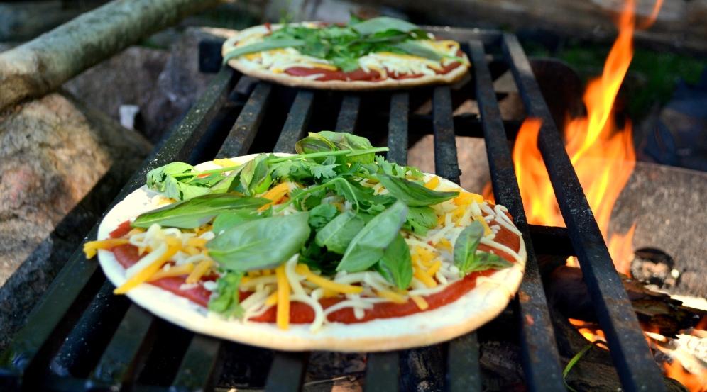 Gluten-free wood-fired pizza.
