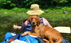 Banjo's first canoe ride