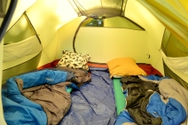 I always love to peek inside tents! This one is mine.