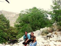 Me and Shanna near a mountain lion den. Photo Courtesy of Shanna Nozdryn