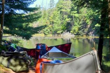 End of portage into Pike Lake