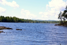 First view of Harry's Lake and the La Cloche mountains