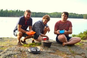 Three hungry men