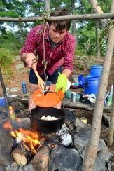 Andrew making dinner