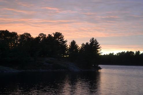 Last sunset on Harry's Lake.