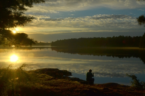 Me and a Killarney sunrise.