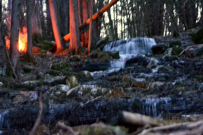 Blaze at the waterfall