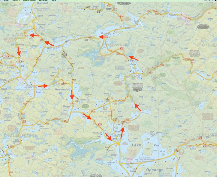Map 1 - Algonquin Route