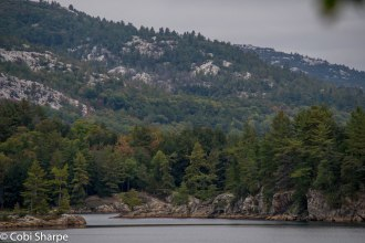 View from our campsite on Killarney Lake