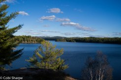 View from the top of our island on Threenarrows Lake