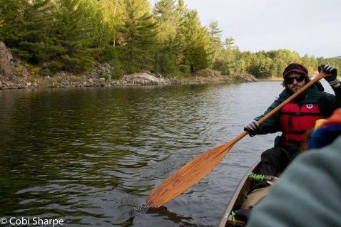 Paddling Threenarrows Lake