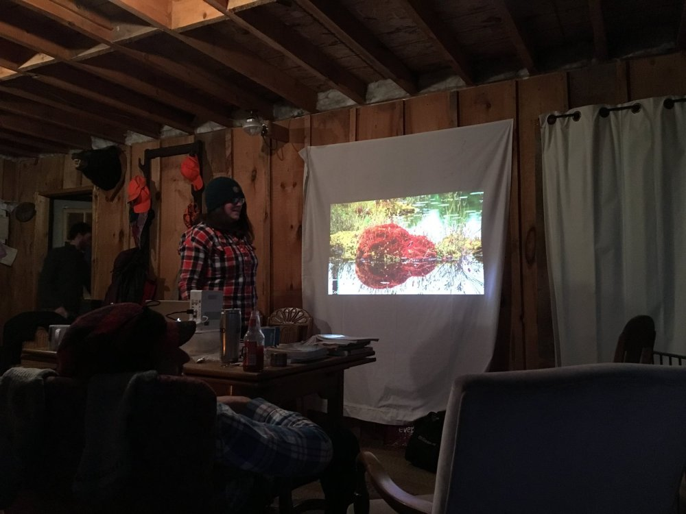 Me presenting my 'Save Wolf Lake - Temagami' canoe route at the 1st Annual Map & Flap