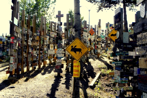 Sign Post Forest. Watson Lake, Yukon