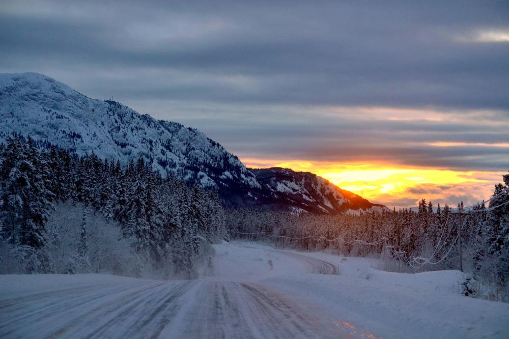 10:30 AM on the Alaska Highway. Marsh Lake, Yukon