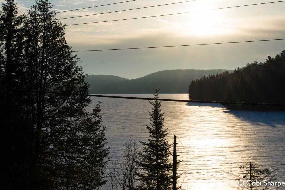 Sunrise on Smoke Lake from Highway 60