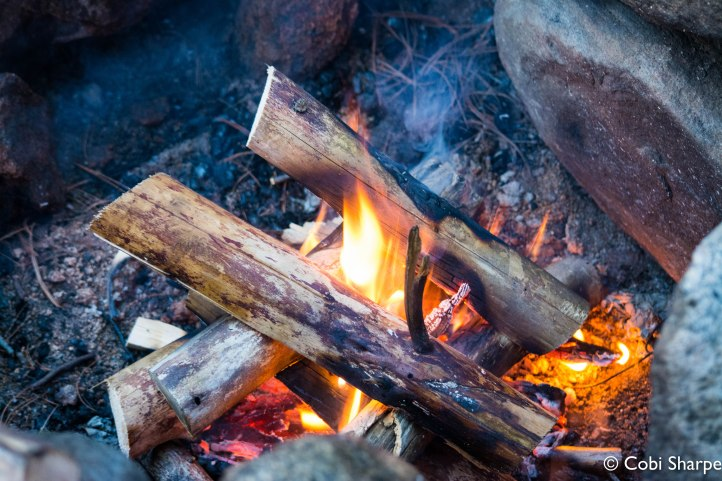 I love the log cabin method of building a fire!