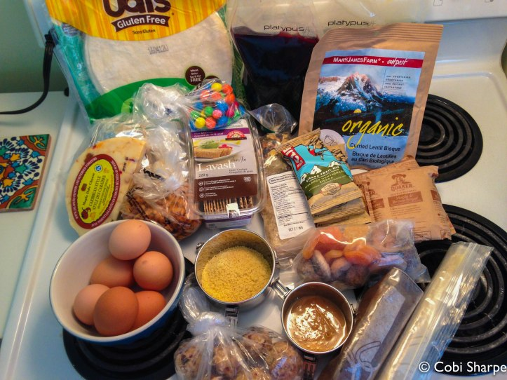 Food for 2 people on a Long Weekend Canoe Trip to Harness Lake in Algonquin Park