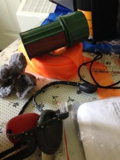 Flagging tape, waterproof matches, DIY fire starter, flint and steel