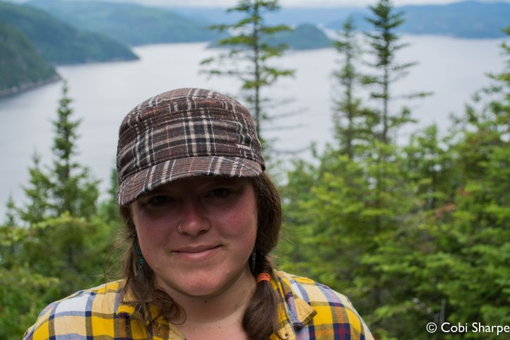 Eww. Sweaty and gross from hiking up to a lookout above the Fjord-du-Saguenay in Quebec. But look at that view! It was worth it.