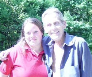 Levon Helm and I at his house in Woodstock, New York (2004)