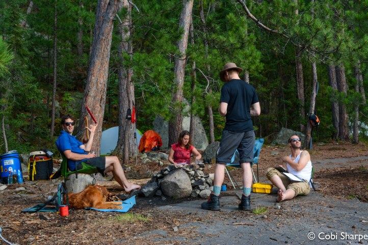 Making camp on Wolf Lake