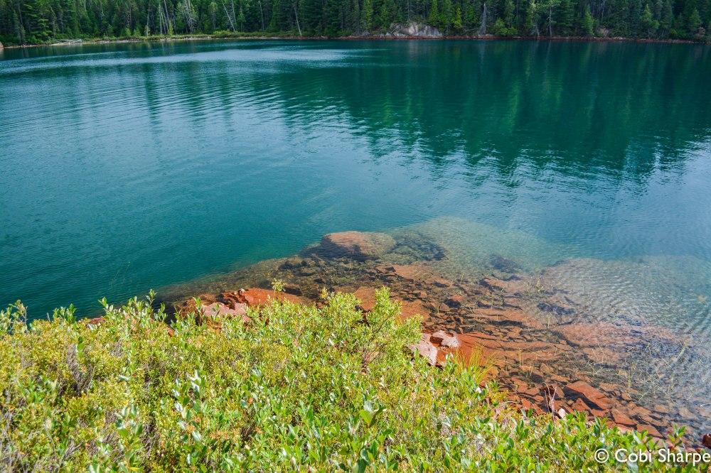 A beautiful swim spot on Chiniguchi Lake