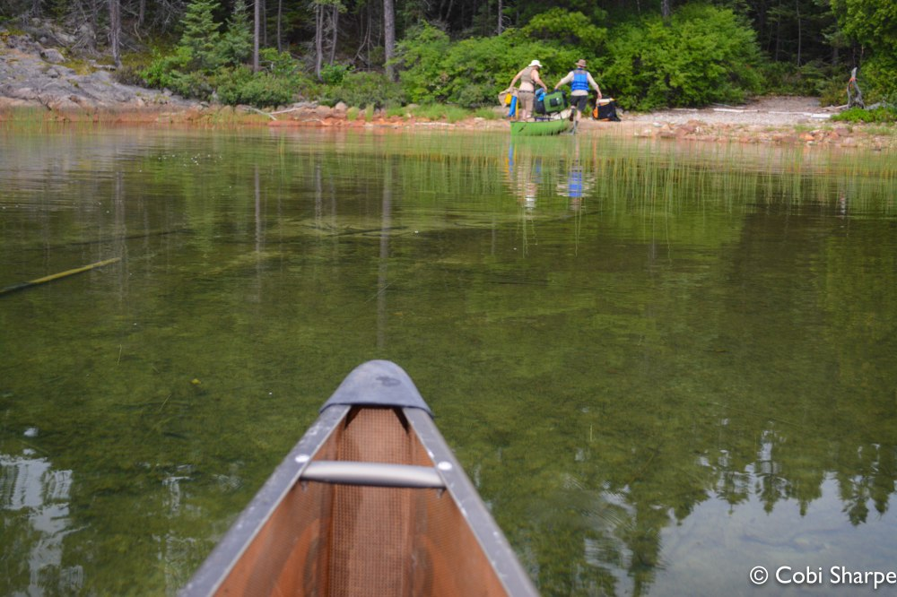 Approaching the McConnell Bay and Laura Lake portage