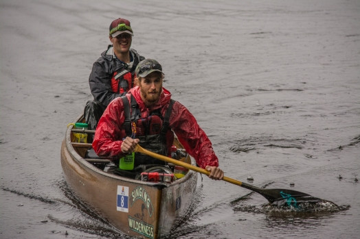 Competing in the Algonquin Outfitters Muskoka River X paddling race