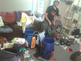 The chaos of packing