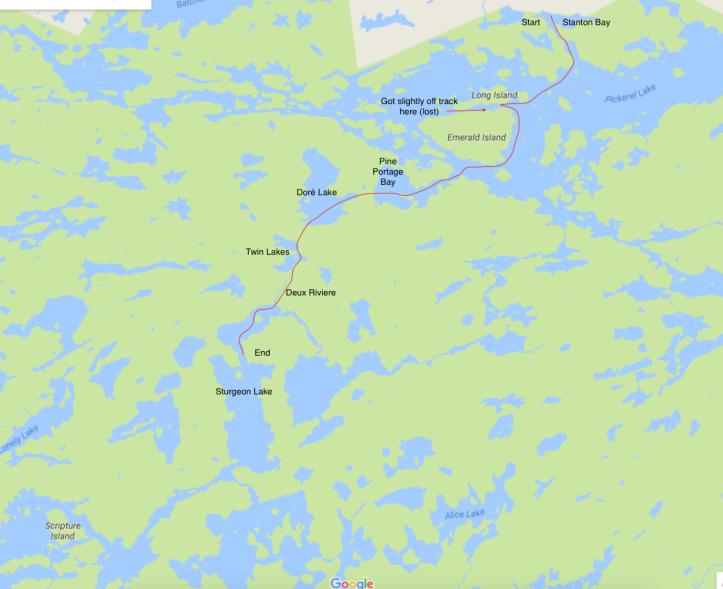 on quetico provincial park map
