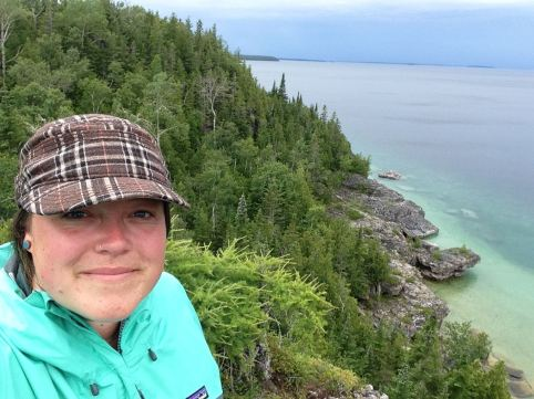 Shooting on location at Bruce Peninsula National Park